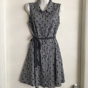 Tommy Hilfiger Gingham Plaid Dress Polka Dots 10